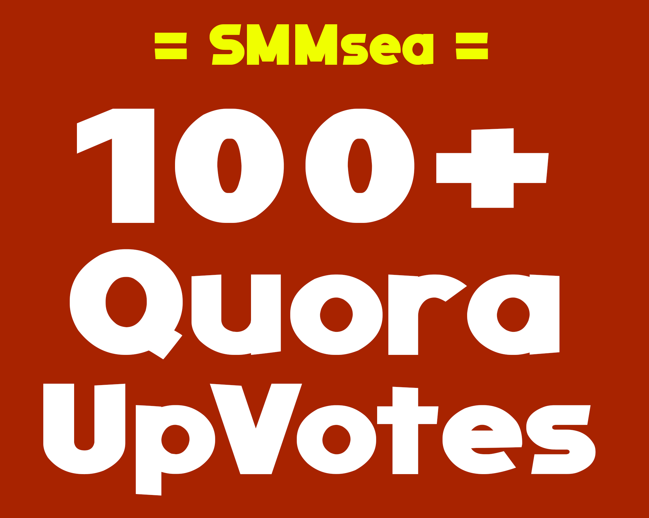 Give you 100+ Worldwide Quora Up-Votes or folllowers