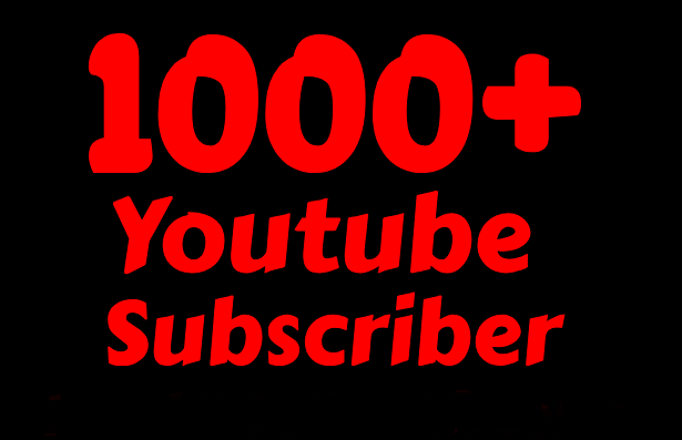 Non-drop 1000+ to 1500+ You-Tube subs.cri-bers lifetime refill guaranteed within 24-72 hours