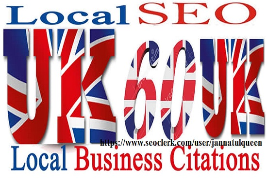 Create 60 Live Citation for Local UK Business Listing