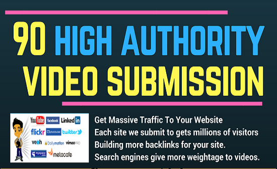 90 Video Submissions In High Da Video Sharing Sites