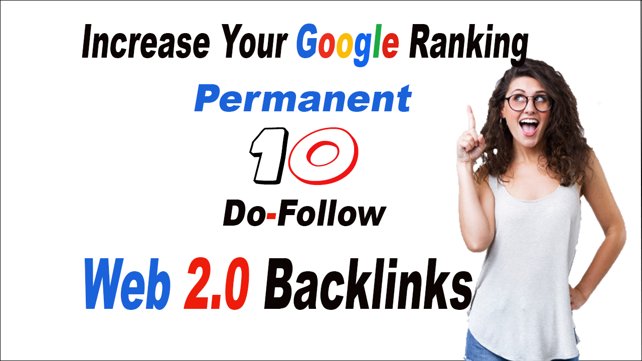 create 10 do follow web 2 blog backlinks for you
