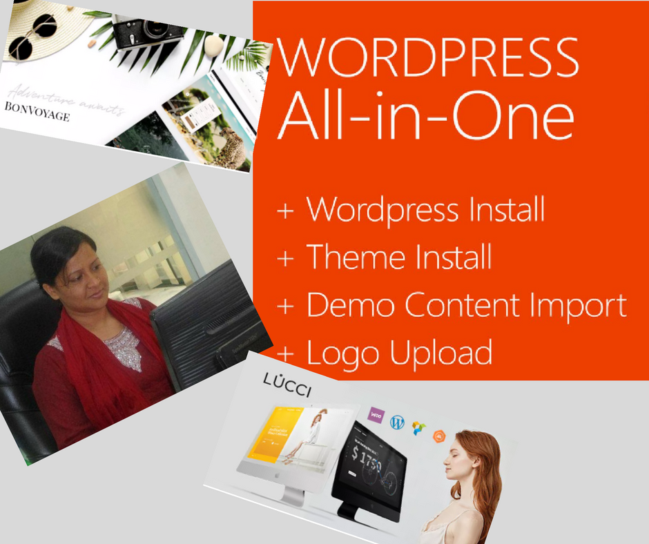Install WordPress and theme customization