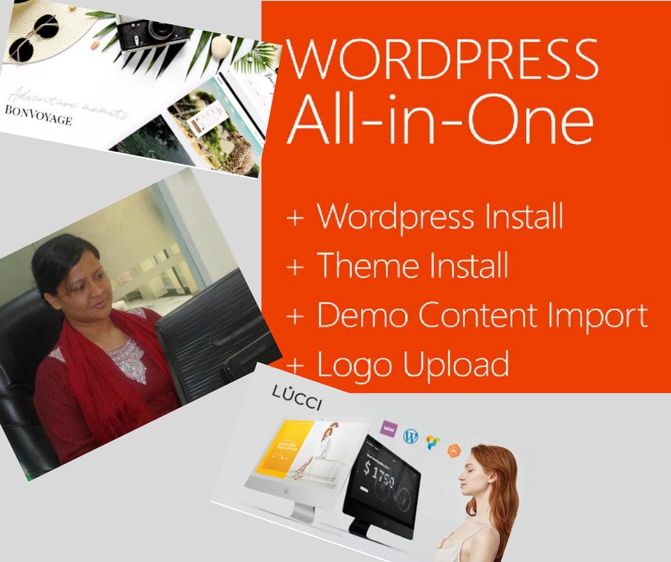 Install WordPress and theme customization