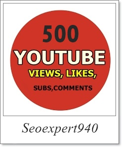 1000 Views Youtube 50 Likes 5 Subscriber 3 Comments