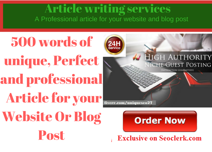 Write 500 word of professional article,  Website And Blog Posts That Exceed Expectations