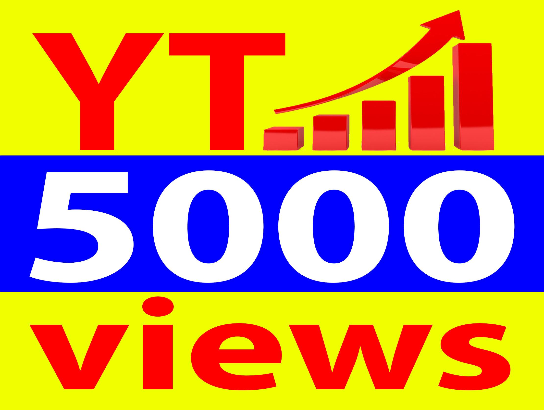 Give 5000+ Vie. ws Ad-sense Safe High Retention 90-100 Percent Non Drop