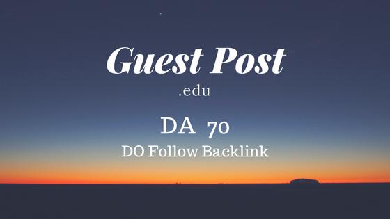 High Authority Educational Guest Post DA 70