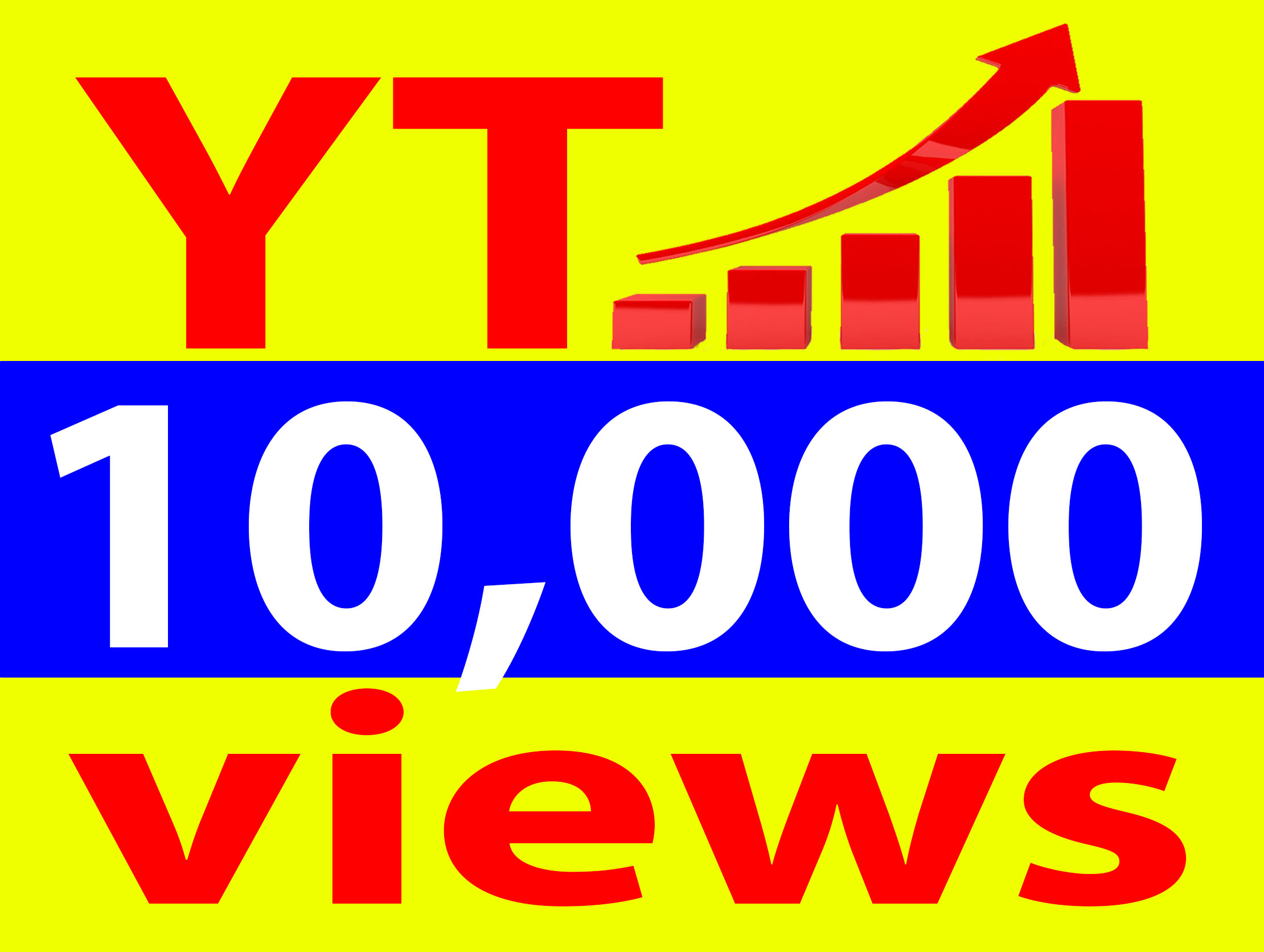 Give 10,000+ Vie. ws Ad-sense Safe High Retention 90-100 Percent Non Drop