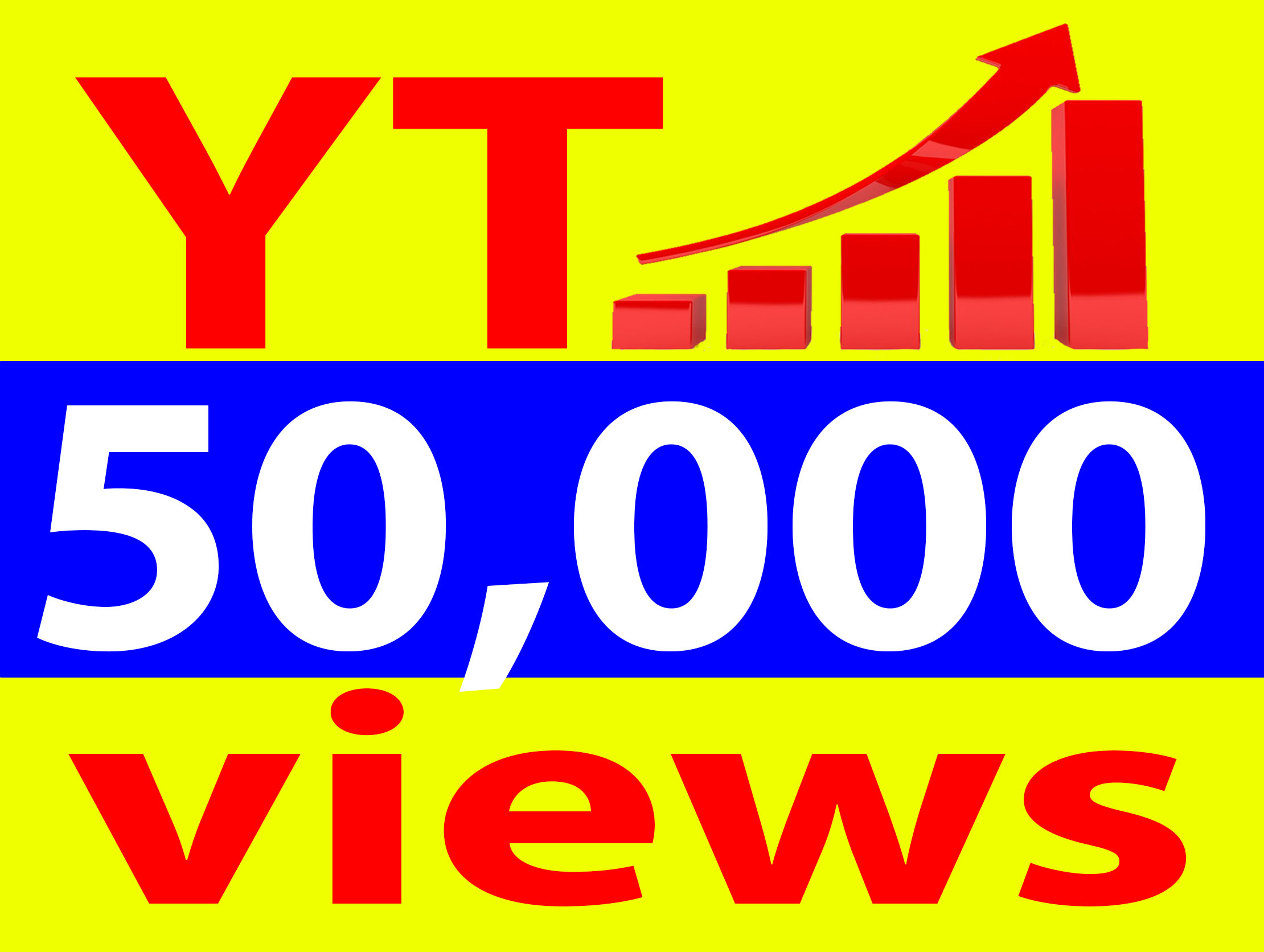 Give 50,000+ Vie. ws Ad-sense Safe High Retention 90-100 Percent Non Drop