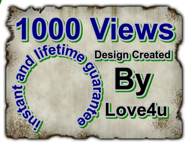 1k Youtube views instant and lifetime guarantee with unlimited Quantity select option
