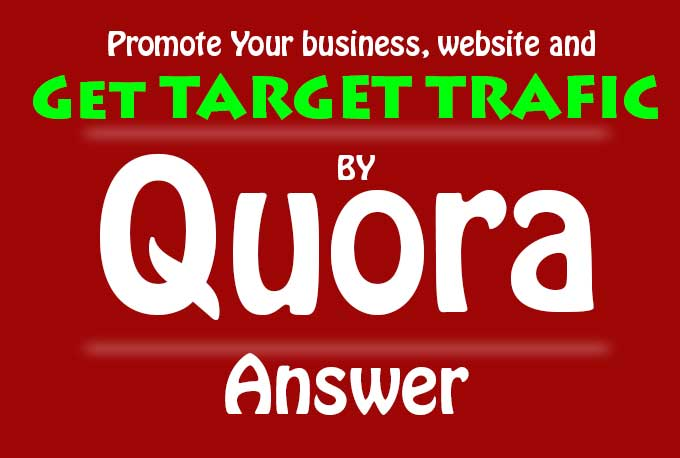 Get 20 Quora Answer Back-links For Your Business, Website Target Traffic