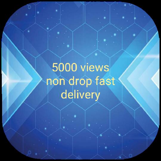 5000 -6000 views non drop fast delivery