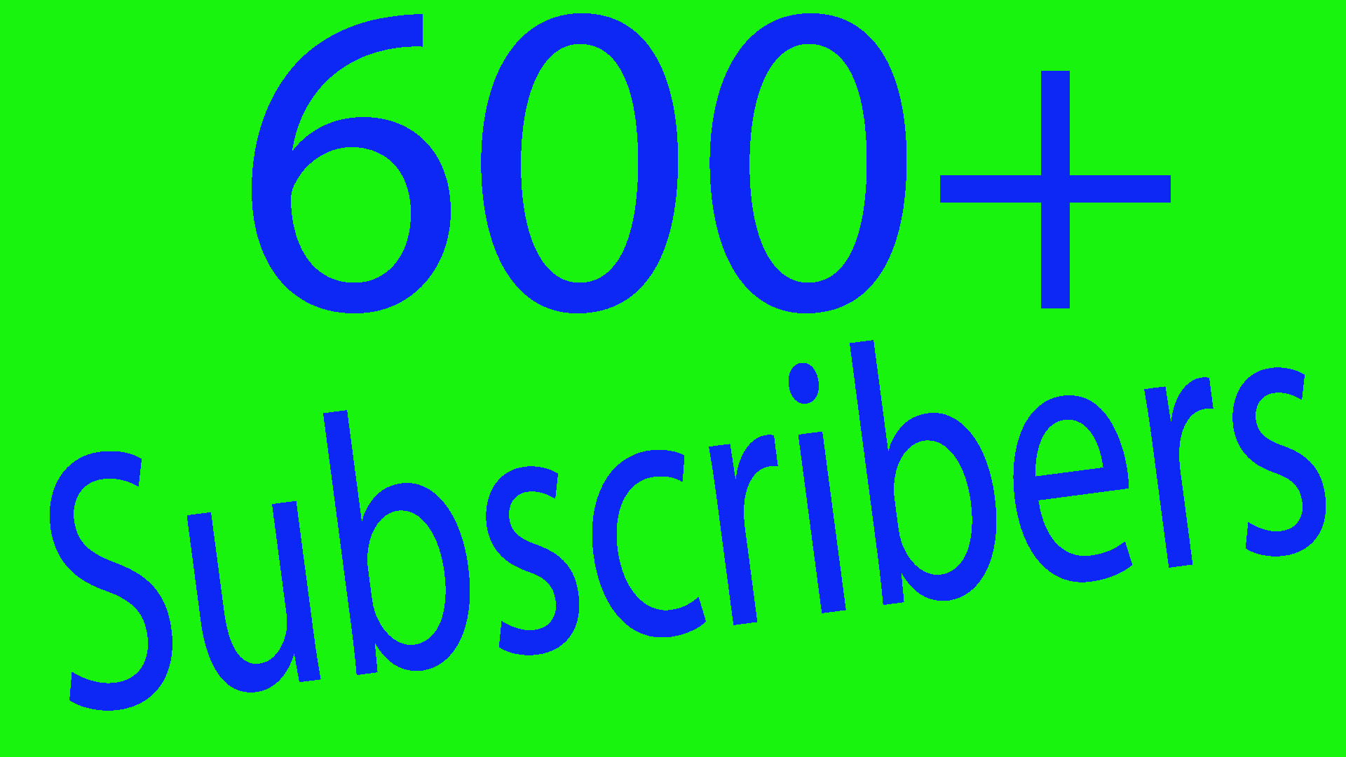 Super fast 600 permanent Youtube subs