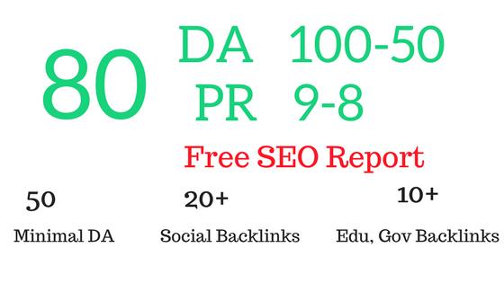 Manually create 80 PR9 Authority profile Backlinks Plus SEO Audit & Report