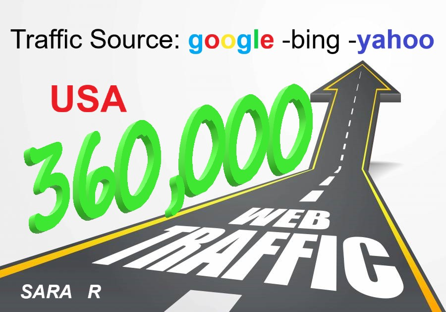 keyword targeted google organic pay 360,000 US traffic to your website for 30 days