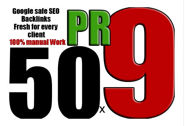 80+ DA 50 Pr9 High Quality SEO Domain Authority Permanent Backlinks