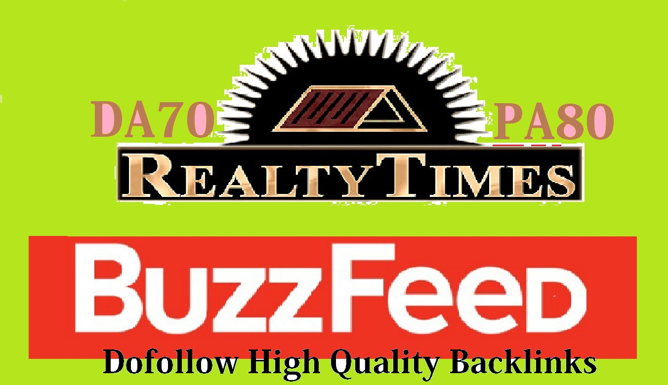 Write and publish on Realtytimes. com with a high Quality Dofo-llow backlinks