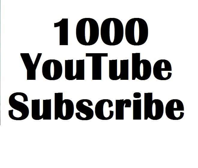 Limited offer 1000 YouTube subscribe non drop lifetime gurenteed 12-24 hours in complete
