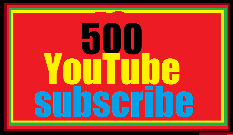Limited offer 500 YouTube subscribe non drop lifetime guarenteed 12-24 hours in complete