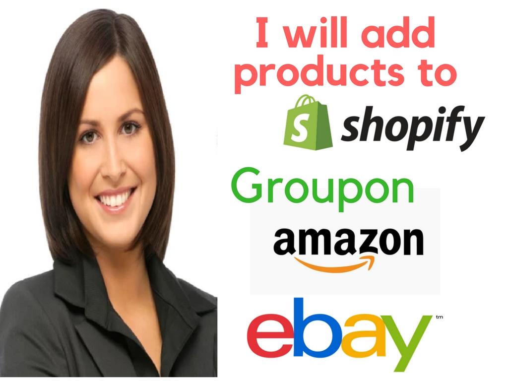 Listing Products On Ebay Etsy Groupon Shopify Amazon