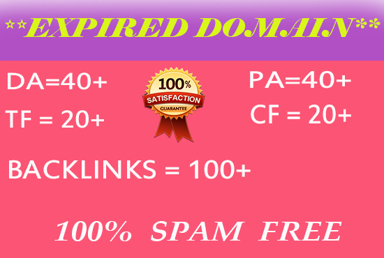 I provide you high DA PA TF CF based expire domain