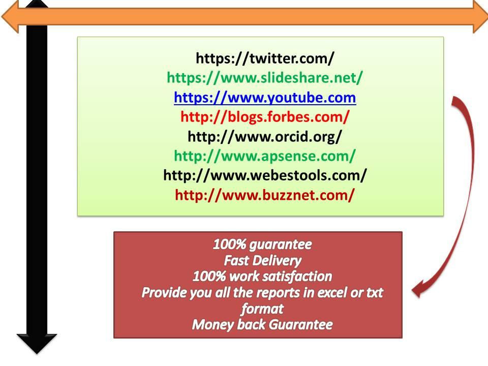 Create 40 High quality Profile backlinks PR7-PR10 Authority website
