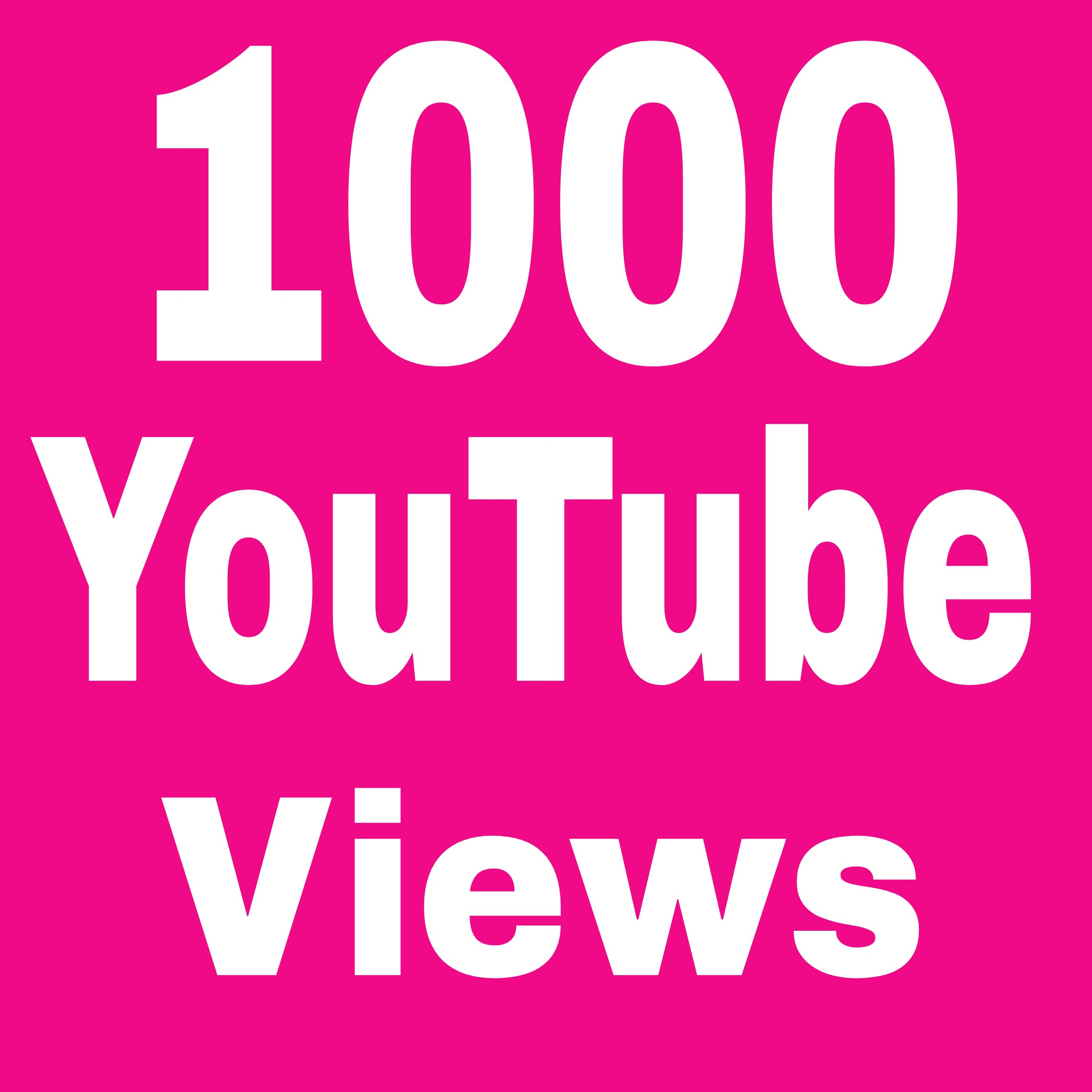 Special offe 1000+ Non drop video promotion  Refill Guaranteed in 2-9hours  hours complete for