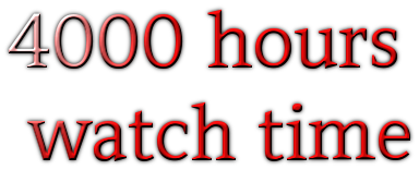 33 watch hours or 2000 minute for your youtube or any video