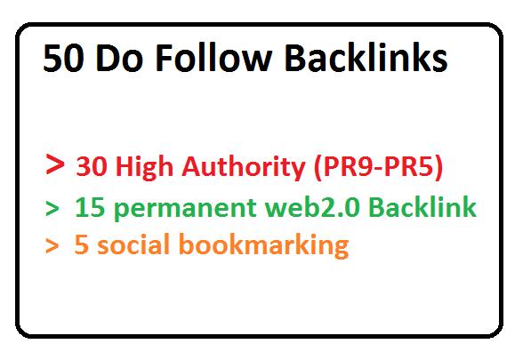 30 PR9-PR5, 15 Web2.0 And 5 Social Bookmarking Backlinks