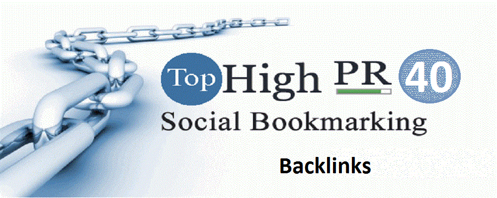 Get Top 40 Social Bookmarking Backlinks PR9, PR8, PR7 - With report