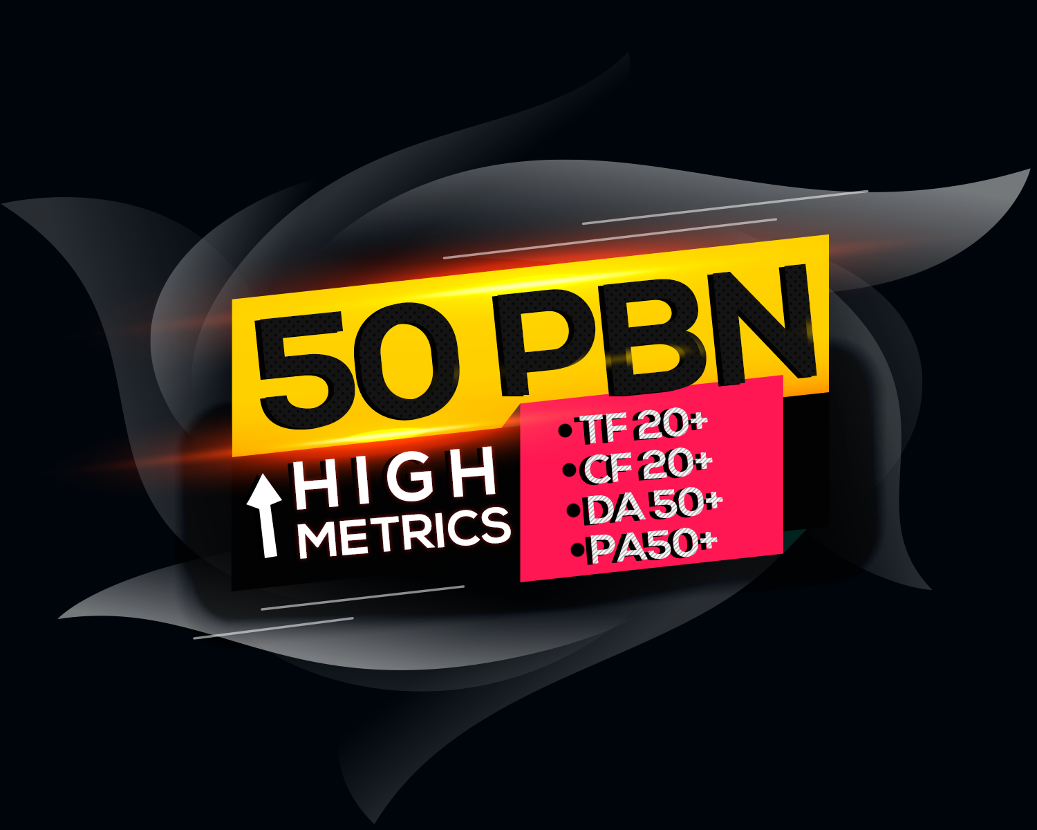 Build 50 High PA/DA TF/CF 50+ to 20,  Homepage PBN Backlinks