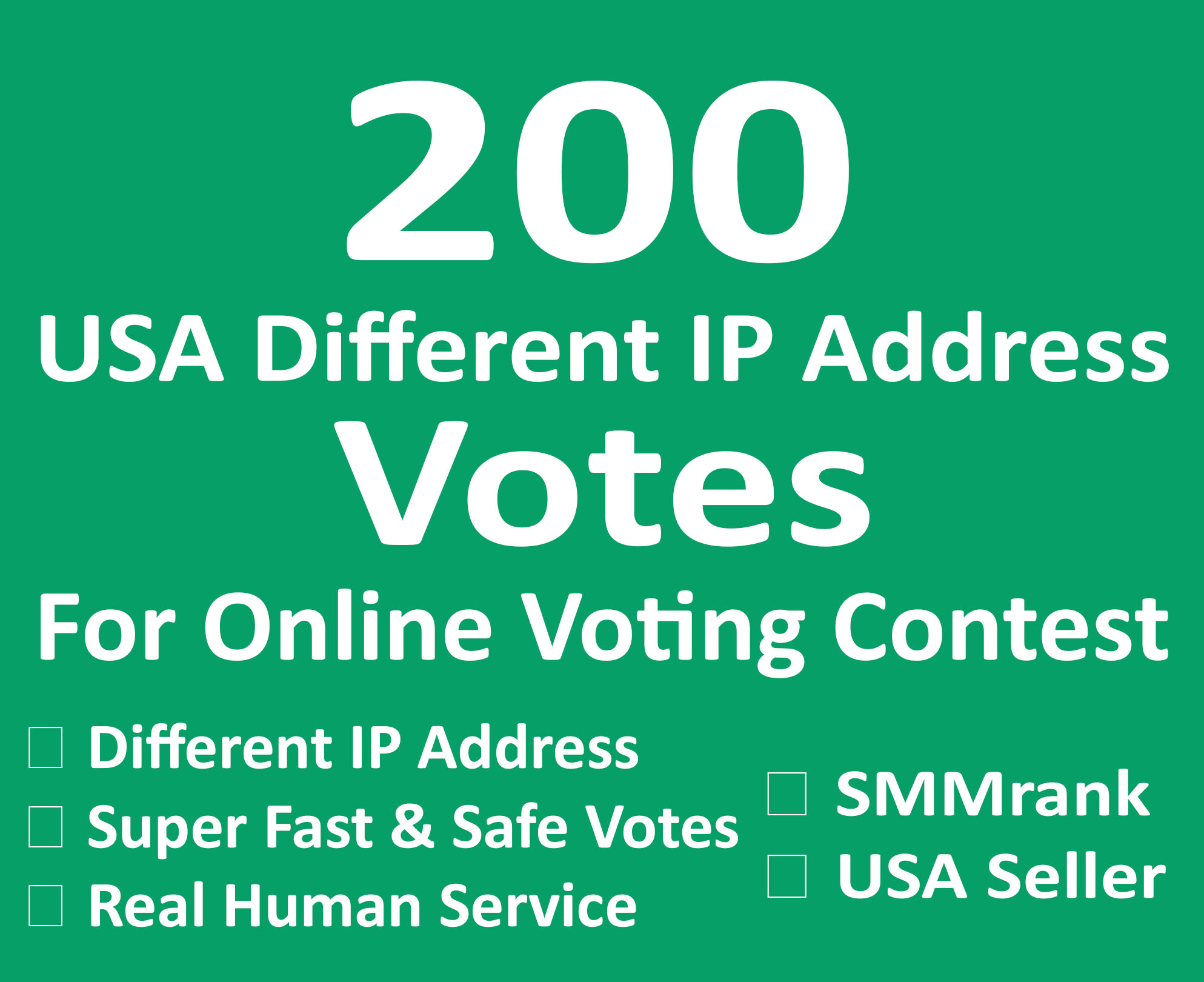Instant Start 200+ USA Different IP Votes For Any Online Voting Contest
