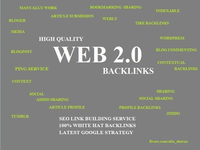 Manually 25 Web 2.0 High PR Backlinks