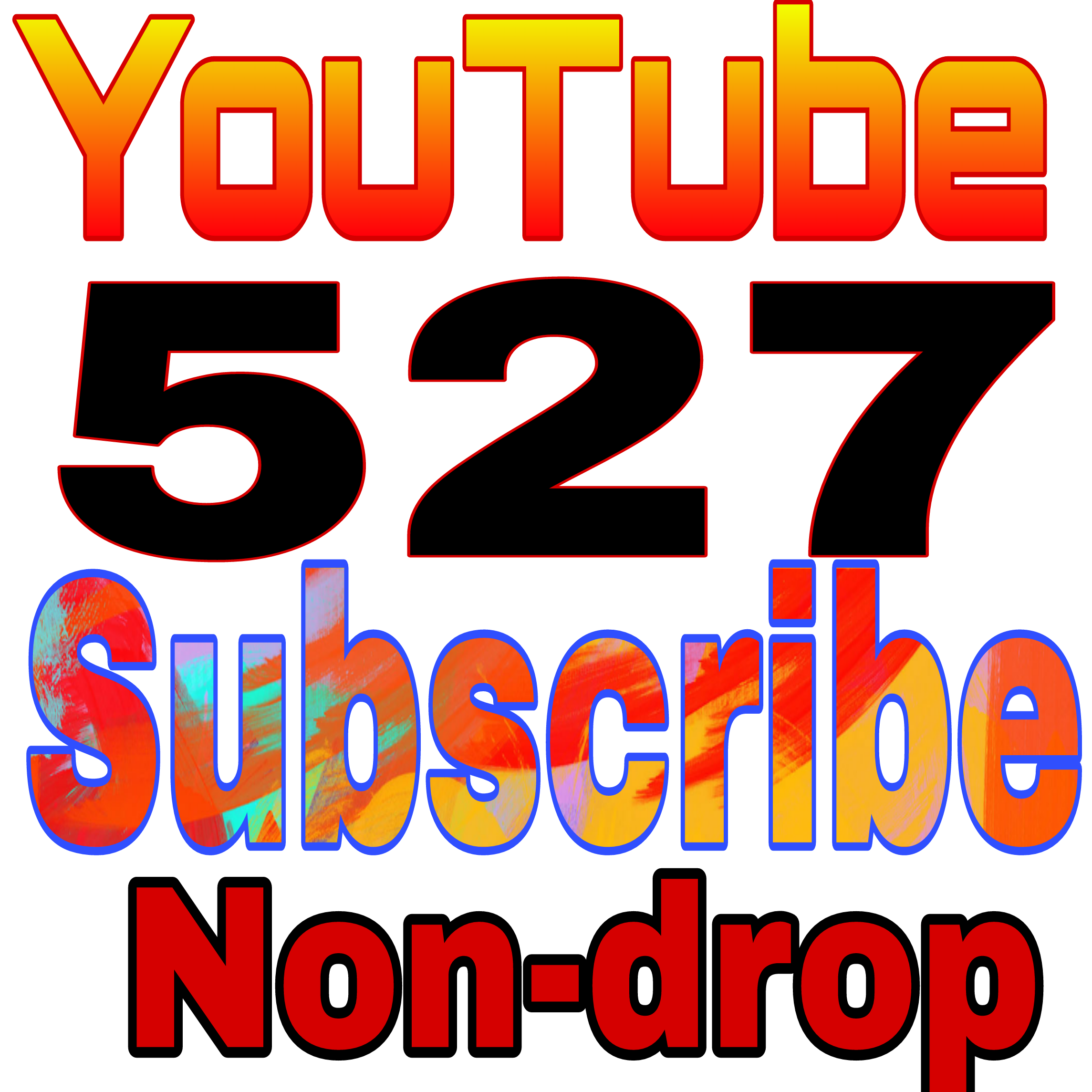 Wonderful offer 500+ YT channel subs non drop refill guaranteed in 12-96 hours delivery