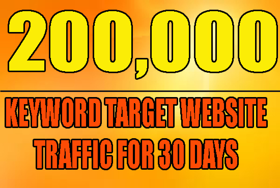 Drive 200,000 real human adsense safe targeted traffic