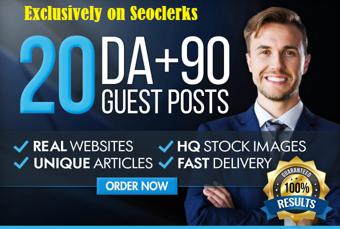 Write and Publish A Guest Post On ANY 3 Real Da90 Websites