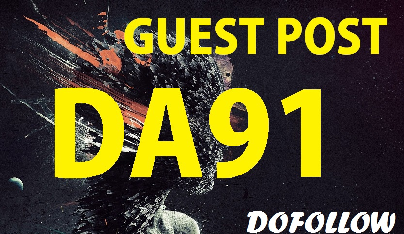 Write and Publish A Guest Post On 1 high quality Real Da90 TF30+Websites