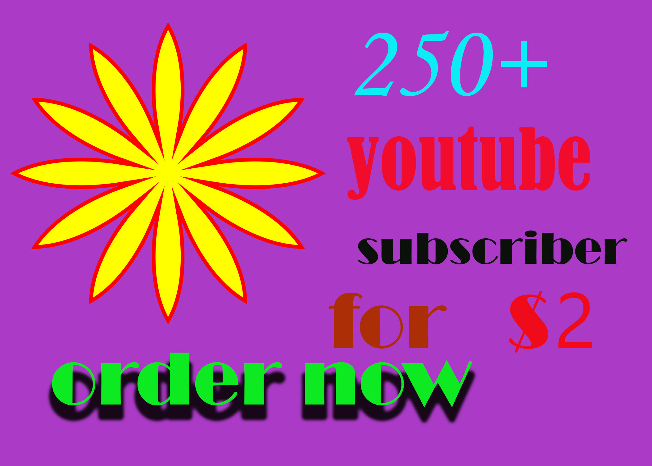 get 250+ youtube non-drop subscribe