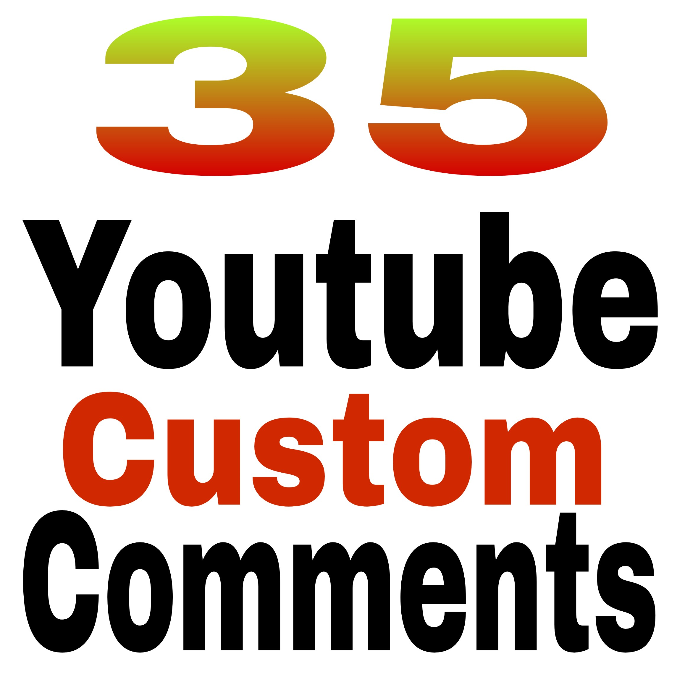 I will do 35 video comments non Drop  guaranteedvery fast in 2- 3 hours delivery