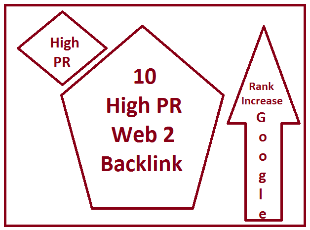 10 High PR web 2 backlink for google rank