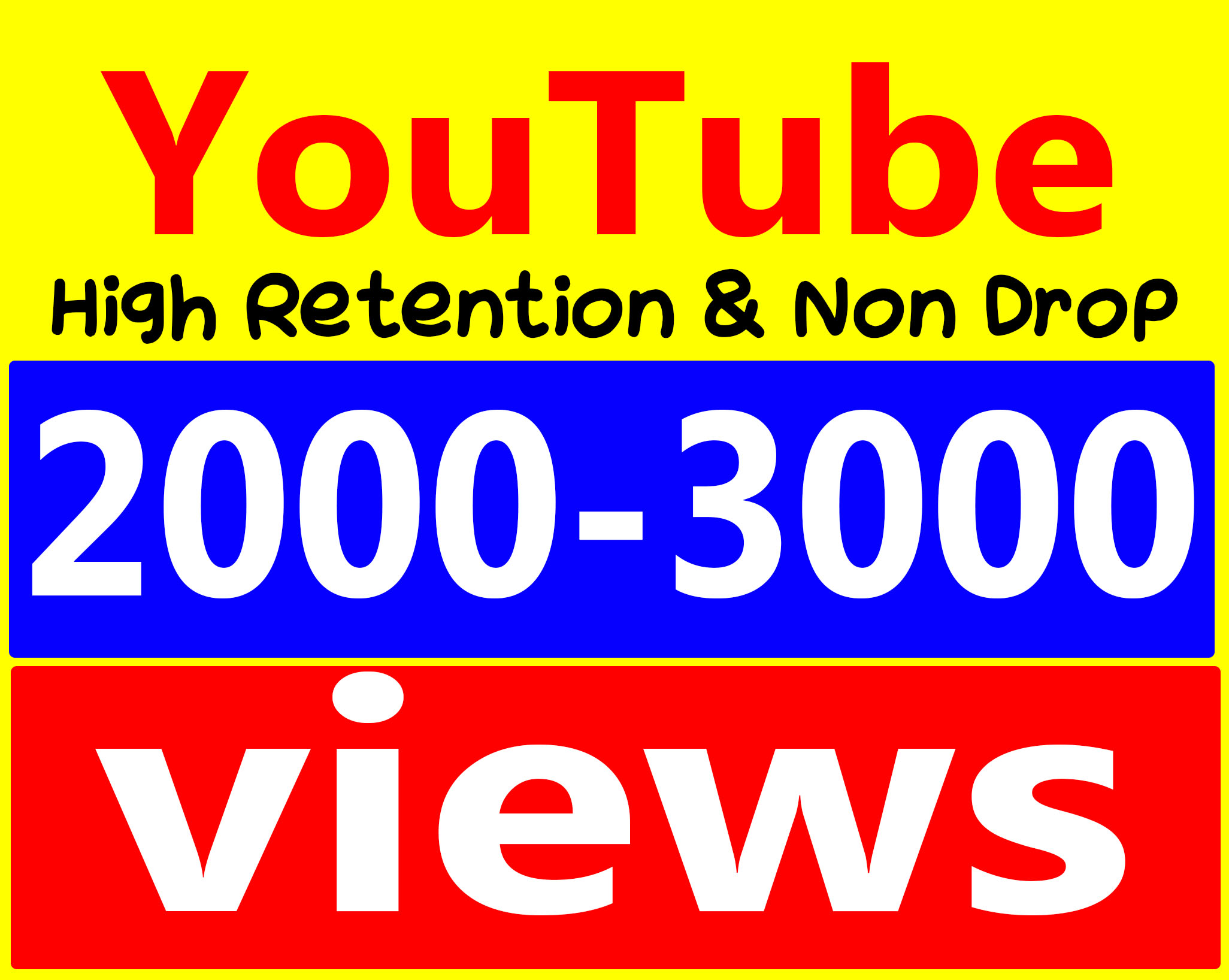 Fast 2000 To 3000 Views High Retention 90-100% Ad-sense Safe & Non Drop Service