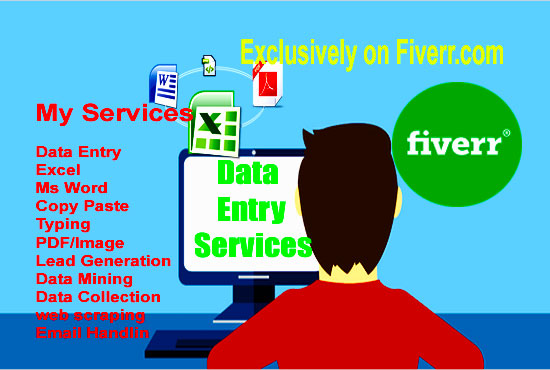 Data Entry, Data Entry Job, Excel Data Entry, Data Analysis , Data Mining , Virtual Assistant