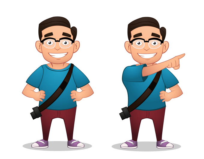 create a cartoon character for you