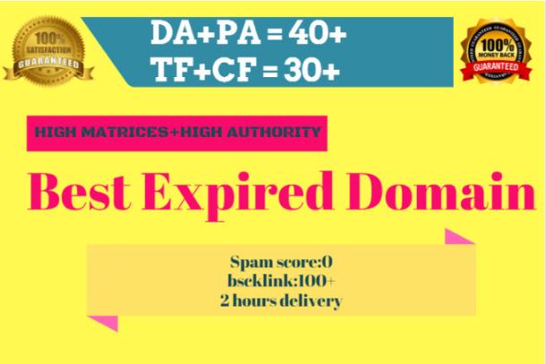 Do High Matrics Expired Domain Research