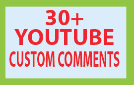 Guaranteed 30+ You Tube Custom Comments