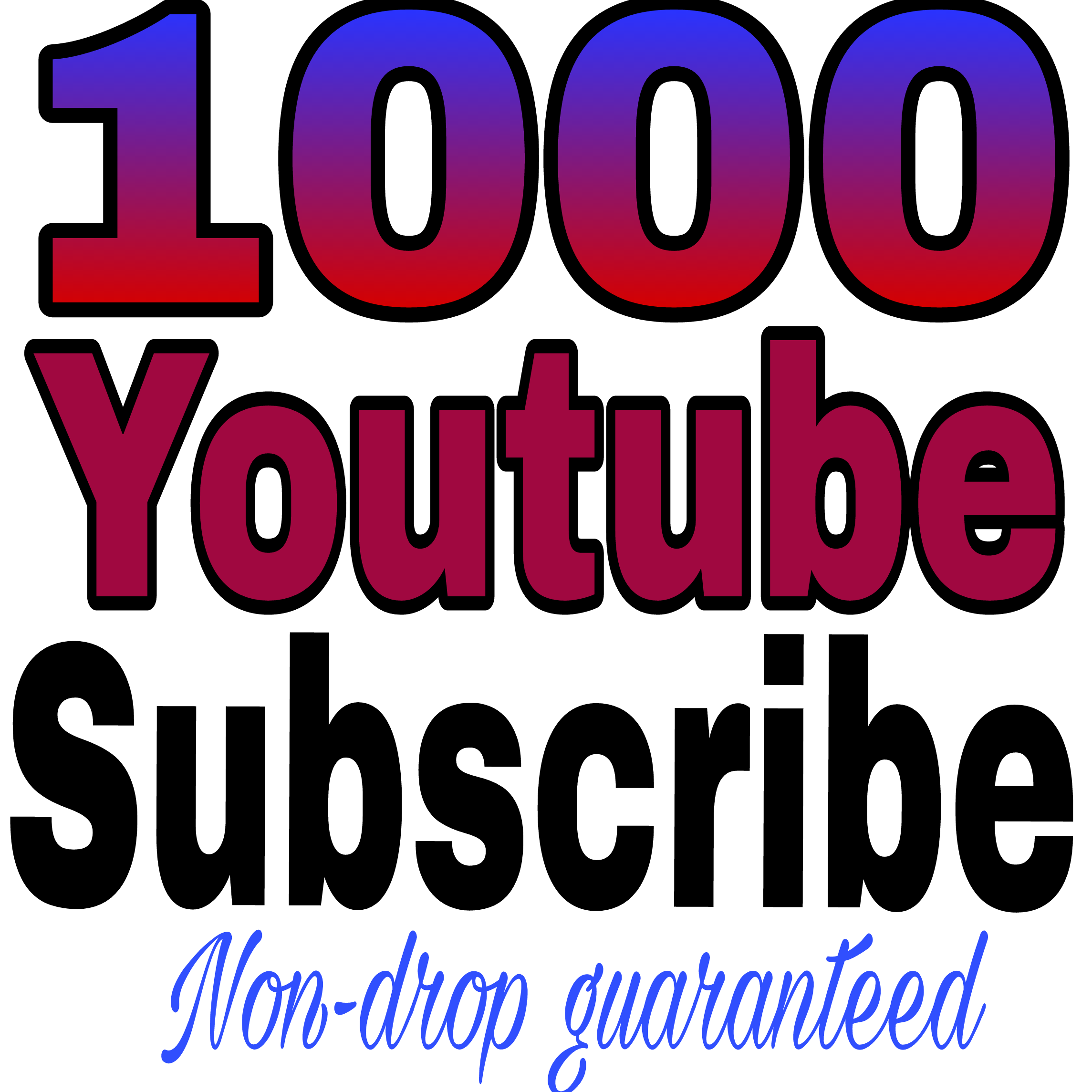 Instant start 1050+ YT channel subs non drop refill guaranteed in 24-96 hours delivery