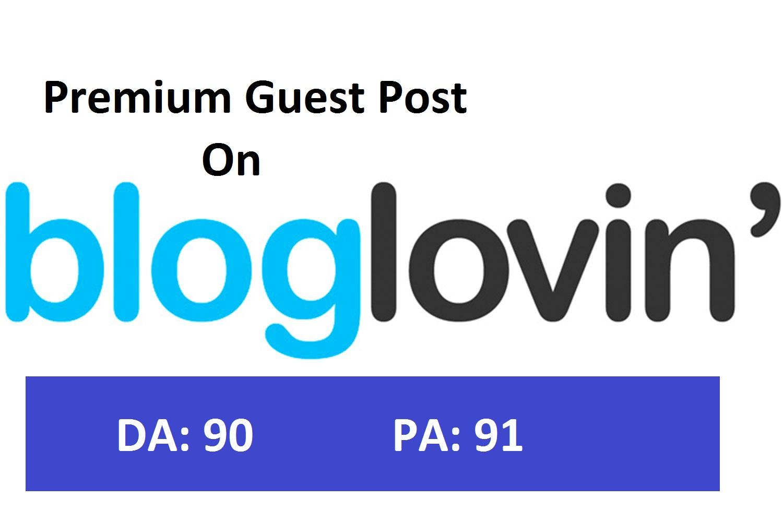 Publish your content on Bloglovin. com with DO-Follow Backlinks DA90
