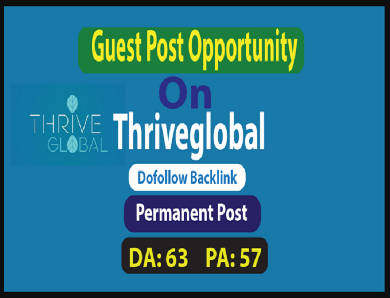 Make Live Post Your Content On Thriveglobal.com