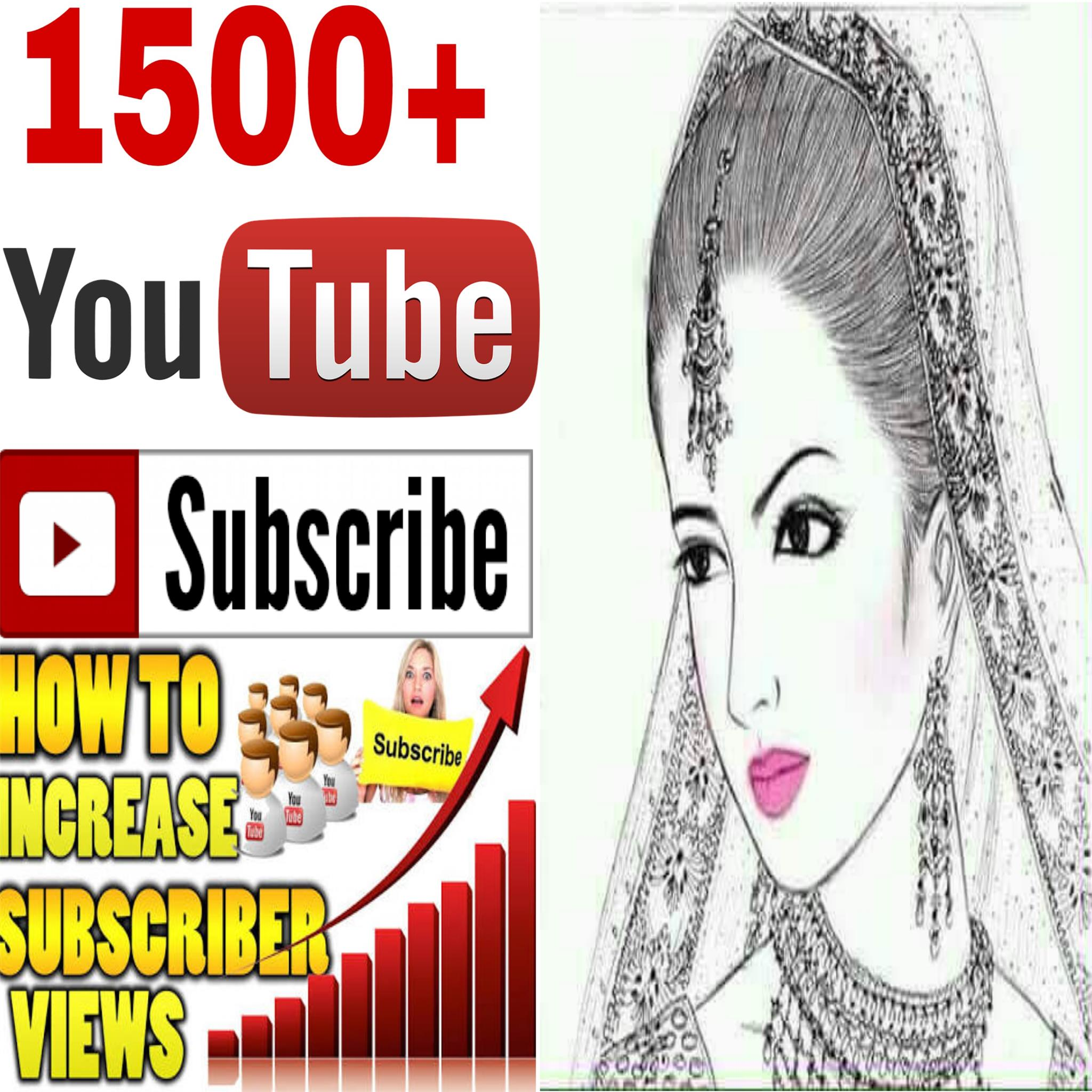 GUARANTEED 1.5k/1500 Real human work channel  subscribers  99 hours completed
