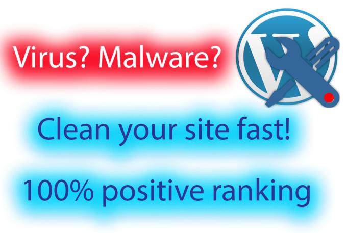 fix any virus or malware on wordpress